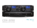 GEMINI双子星CDX 2250专业2U双CD播放机